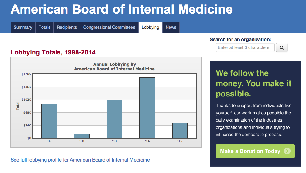 Dr  Wes: ABIM Fails to Disclose Lobbying Efforts