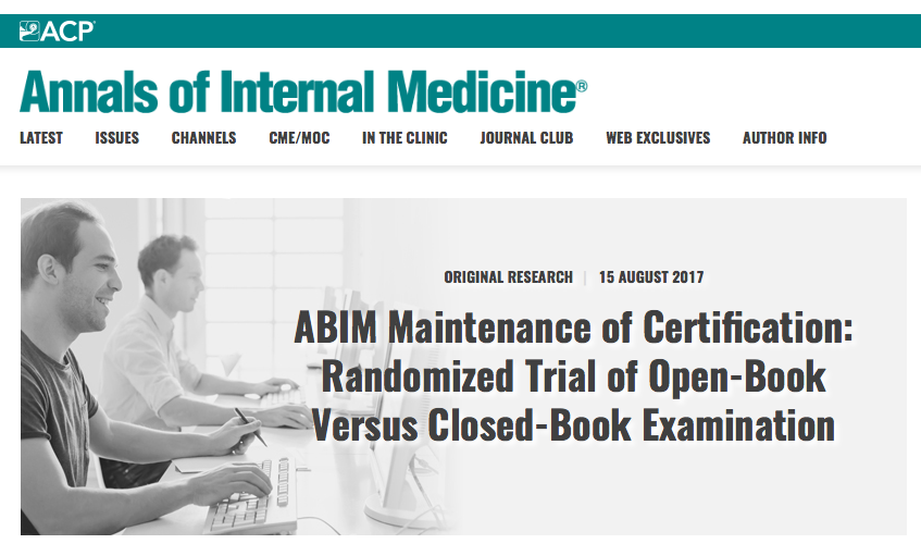 Dr  Wes: Fake News: Annals of Internal Medicine's Disclosures