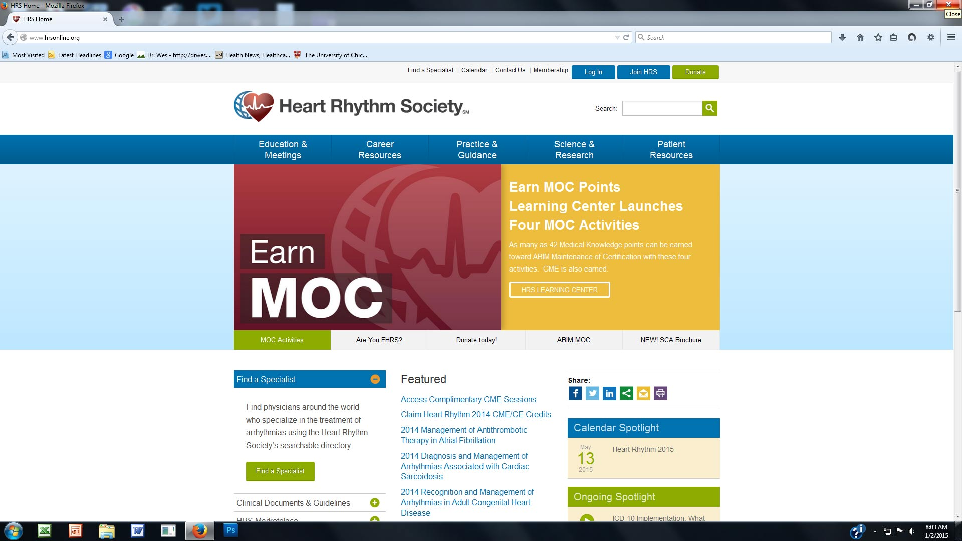 Dr wes some thoughts on the national board of physicians and screenshot of heart rhythm society webpage xflitez Choice Image