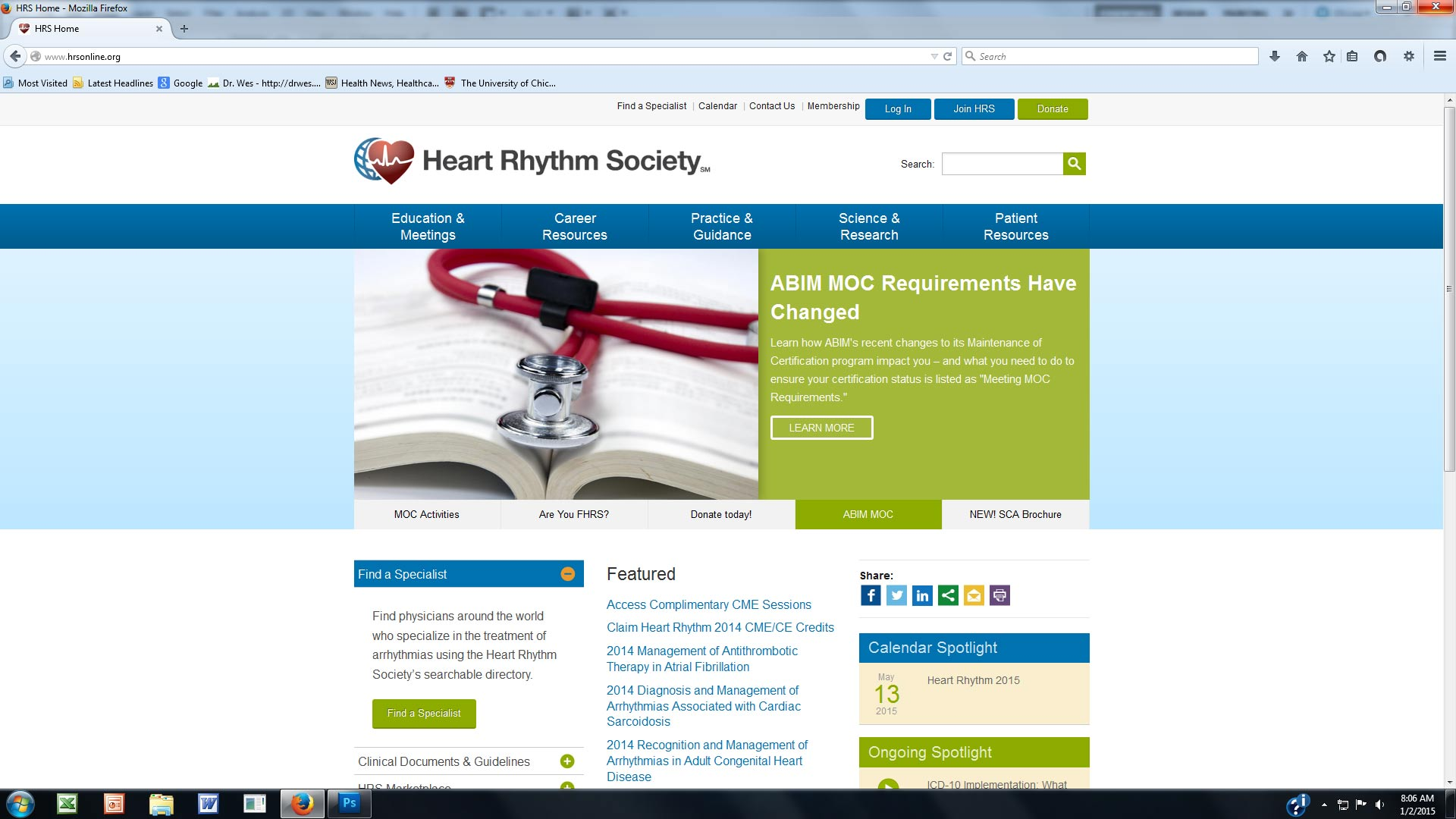 Dr wes some thoughts on the national board of physicians and a second heart rhythm society webpage devoted to moc xflitez Choice Image